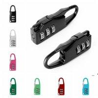 3 Mini cadran de sécurité Sécurité Voyage Voyage Safe Lock Number Code Mot de passe Mot de passe Cadenas pour Cadenas Lock de bagages de gymnase LLA7374