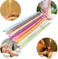8 colors green brown pink Indian Therapy Ear Candle Natural Aromatherapy Bee Wax Auricular Therapy Ear Candle Coning Brain Ear Care Candle Sticks