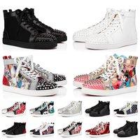 Diseñador de marca de lujo para hombre, zapatos rojos, zapatos con tachuelas, tachuelas para mujer, zapatos con , zapatillas de deporte con plataforma