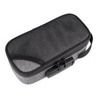 Smoking Smell Proof Stash Bag With Combination Lock Large Carbon Lined Container Organizer For Tobacco Storage Case Bags