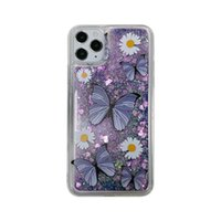 Butterfly Purple Quicksand Glitter TPU Transparent Mobile Phone Case For iPhone 12 Pro Max 11 XS XR