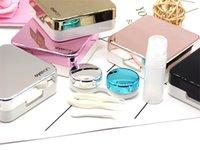 미니 세련된 간단한 콘택트 렌즈 여행 케이스, Aneky 컨테이너 키트 세트 연락처 렌즈 하드 케이스 키트 거울 핀셋 Con 198 V2