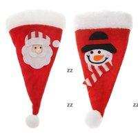 Chapeau de Noël Sac Cutlery Sac Candy Sacs-cadeaux Jolie Couteau à fourche de poche Couteau Candy Porte-Candy Table Dîner Décoratif Vaisselle HWB8853