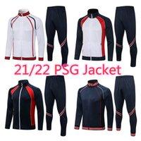 21 22 messi soccer tracksuit tracksuits MBAPPE Psgs football training suits kit futbol Men Adult Hommes jacket sets Survetement Long sleeves Sportswear top