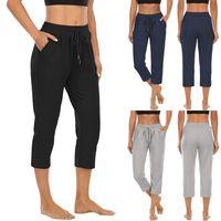 Women's Leggings Pants For Women Trousers Loose Casual Solid Color Harem Plus Size Capri Summer Running Athletic