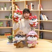 30 cm Muñeca de dibujos animados encantadora shiba inu perro cosplay vestido de felpa juguetes rellenos lindos animales muñecas suave almohada para niños regalo de cumpleaños