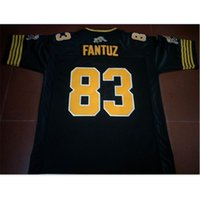 Kundenspezifische Bucht Jugendfrauen Vintage Hamilton Tiger-Cats # 83 Andy Fantuz Football Jersey Größe S-5XL oder benutzerdefinierte ja name oder nummer jersey