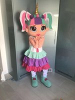 Mascot Costumes New arrival Foam professional delux DOLL UNICORN Girl mascot fancy dress suit costumes cartoon party costumes adult size