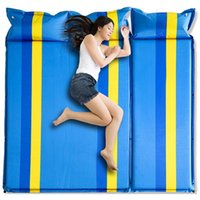 Outdoor Pads 2+1spliced Thick 5cm Automatic Inflatable Cushion Sleeping Pad Tent Camping Mats Bed Mattress 4 Colors