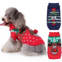 Abbigliamento per cani cervi di Natale cervi di natale Abbigliamento per animali in costume per gatti per cani da cani per piccoli cani Halloween Caldo Knitte