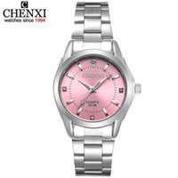 Diseñador Luxury Brand Watches Fashion Colors Chenxi CX021B Relogio Women's Casual ES Impermeable Mujeres Vestido de moda Rhinestone