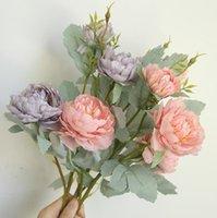 Paeonia Surfruticosa Искусственные шелковые Цветы Главная Свадебный офис DIY Гостиная Партия Сад