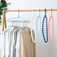 Laundry Bags JO LIFE 1PC 11 Hole Space Saving Storage Rack Multi-function Closet Magic Clothes Hanger Hook