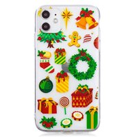 Christmas Style TPU Case for IPhone 13 Pro Max IPhone 12 Pro 12 Mini IPhone 11 ProMax XS Max Xr 8 7 Plus SE 2020 6S Plus Christmas Gifts Transparent Case