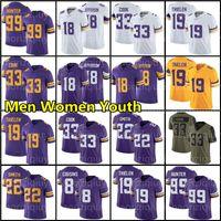 18 Justin Jefferson Jersey 33 Dalvin Cook Adam Thielen 22 Harrison Smith Futebol 7 Patrick Peterson Kirk Cousins Danielle Hunter 30 C.J. Ham 99 Mens Womens Kids