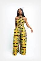 Moda Africano Roupas Jumpsuit Multi-desgaste Estilo Largo Pants Pants Dashiki África Vestidos para Mulheres Moda Senhoras Robe Africaine