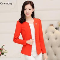 Women Blazers 2021 Fashion Slim Suit Jacket Solid Plus Size M-5XL Coat Outerwear Female Orwindny Women's Suits &