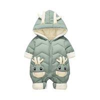 Marca bebê inverno snowsuit plus veludo grosso bebê meninos macacão 0-3 anos recém-nascido romper menina roupas macacões toddler casaco 201128