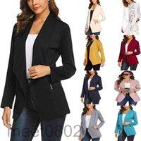 Women's Suits & Blazers Fashion Lapel Long Sleeve Temperament Blazer Women 2021 Spring Slim Cardigan Blouse 9 colors