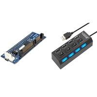 Chubs Converter 40-контактный IDE женский SATA до 22-контактных мужских адаптер PATA CARD 4 Порты USB Hub Splitter 2.0 LED