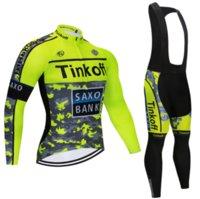 Nuovo Tinkoff 2021 Traspibile manica lunga Bike Suit Mountain Bike Suit Autunno Bike Sportswear 20D Mens Manica lunga T-shirt manica lunga