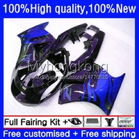 Corpo OEM per Suzuki RGVT-250 RGVT250 VJ21 VJ22 250CC 1988 1989 1990 91 92 93 Bodywork 31No.178 RGV-250 RGV250 SAPC RGVT RGV 250 88 89 90 Blue Flames 1991 1992 1993 Fairing