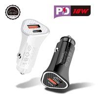 20W 18W быстрый зарядки двойных портов Тип C PD QC3.0 USB Автомобильные зарядные устройства для iPhone Samsung Huawei Android Phone GPS PC