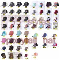 Tie-tintura Chapéus Chapéus 55 Cores Mulheres Bordado Bordado Bonés de Beisebol Bonés Girassol Búfalo Leopardo Messy Bun Trucker Cyz3186