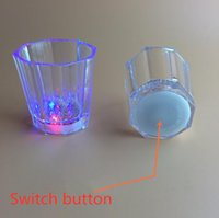 Liquid Activated LED Shot Glasses Multicolor Wine Glass Fun Light Up Shots 2 oz tumbler creative ju0833