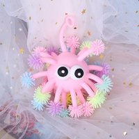 5 Inch Vent Fidget Toys Convex Eye Luminous Hedgehog Multi-Head Octopus Glowings hed sea urchin LED glowing Ball toy DHL
