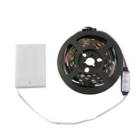 Strips 1 Pc WS68 12 RGB SMD LED Strip Lamps Waterproof Flexible Tape Light 5V Lamp Black White With Battery Box