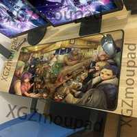 Mouse Pads & Wrist Rests XGZ Large Gaming Computer Desk Mat Black Lock Edge Spider Thief Restaurant Anime Custom Fashion Pad Rubber N