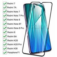 9D de vidro de proteção completa no Xiaomi Redmi 8 7 7A 8A K20 K30 Redmi Nota 8 8T 7 Pro Pocófono F1 Tela Temperada Filme de vidro