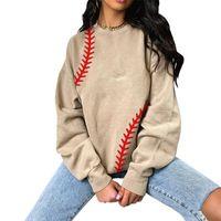 Mujeres sueltas suéter suéter sudaderas primavera tops señoras sudadera novio estilo deportes casual casero top tenis textura ropa G3940nm