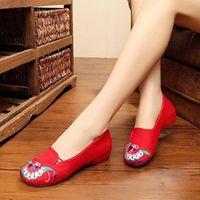 여성 클래식 가벼운 무게 미끄럼 평면 신발 숙녀 캐주얼 블랙 봄 댄스 신발 여름 캔버스 발레 로퍼 Zapatos G2229 V4MD #