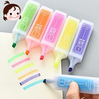 Highlighters 1pc Colored Highlighter Large Capacity Green Pink Orange Yellow Blue Purple For Choose Marker Pens School Office Supplies