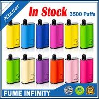Бесконечные одноразовые E Cigarettes Box Mod Kit 3500 Средства 1500 мАч Батарея 12ML Предварительный картридж POD VAPE PEN VS AIR BAR MAX FLEX