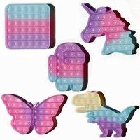 Change Color Under Sun Push Bubbles Fidget Sensory Toys Decompression Irritability Autism Special Needs Stress Reliever Toy for Kids