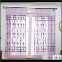 Drapes Deco El Supplies & Garden Drop Delivery 2021 Lychee Flower Ripple Printed Modern Door Curtain Window Room Divider Valance Home Decorat