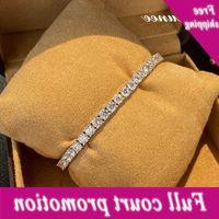 ELSIEUNE 100% REAL 925 STERLING STERLING STERLING MOISSANITE DIAMONDS DE TENNIS POUR FEMMES BrUILOFT BRACELET Bijoux fins