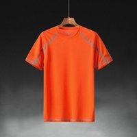 Roupas de secagem rápida dos homens de manga curta tamanho grande terno solto verão esportes ao ar livre t-shirt