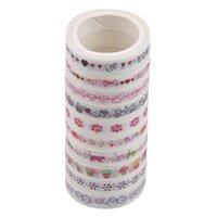 Rouleaux / Set Dream Water Blue Series Papier décoratif Lave-bande Set Set de papeterie japonaise Kawaii Scrapbooking fournitures Stickers Wrap cadeau