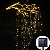 Strings Solar Garlands Outdoor Tree Vines Waterfall Fairy Led String Light Decoration Street Living Room Garden