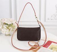 고품질 패션 디자이너 럭셔리 핸드백 지갑 Pochette 액세서리 가방 여성 브랜드 클래식 스타일 정품 가죽 어깨 가방