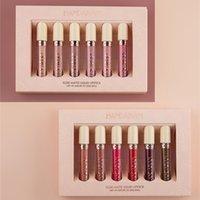 Handaiyan 6pcs / 세트 액체 립스틱 매트 립글로스 화장품 누드 레드 립글로스 방수 긴 지속적인 색조 12 색