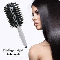 Peinado redondo Peine Cerámica Pincel de cerámica Peluquería Peluquería Térmica Térmica Para Barril Al Por Mayor K0E41
