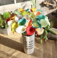 Calla Lily Artificial PU Flores Inicio Oficina de Boda DIY Sala de estar Party Garden