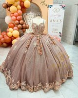 Princessa Sweet 16 Quinceanera Dress Beads Crystal Appliqued Lace Pageant Party Gowns Ball Gown Prom Wear 2021