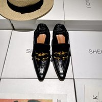 Spring Luxuoso 2020 Popular Pequeno Quadrado Sapatos Importados Pintura Enrugada Calfskin Feminino High Heaver 7cm High tamanho 35-40