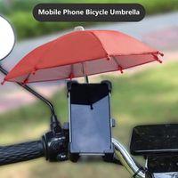 Bike Handlebars &Components Mini Umbrella For Phone Waterproof Sunshade Motorcycle Cycling Bikes Decoration Alloy 8-Ribs Tiny Umbrellas Bicy